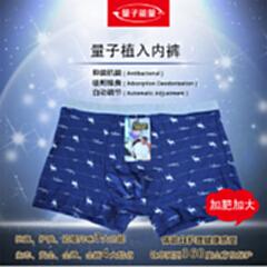 量子能量男士内裤 权者之威 加肥加大款 内裤 两条装
