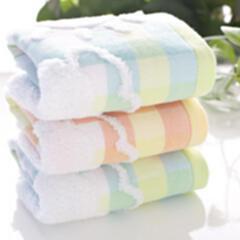 纯棉梅花小鹿纱布童巾 婴幼儿家居必需品 超柔吸水儿童毛巾 颜色随机