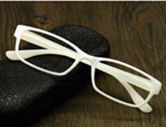 量子能量防辐射眼镜 纳米多功能负离子眼镜 白色镜框