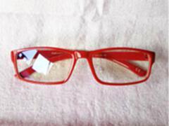 量子能量防辐射眼镜 纳米多功能负离子眼镜 红色镜框