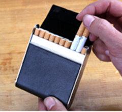量子能量烟盒 20支装 高档pu烟盒 黑色 黑色