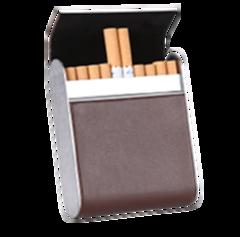 量子能量烟盒 20支装 高档pu烟盒 黑色 咖色