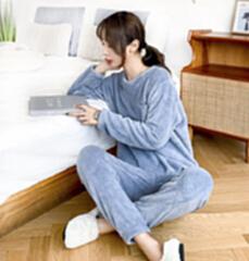 量子能量  暖暖套装 家居服 睡衣 洋气蓝