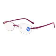 迎伊嘉 石墨烯 负离子量子 老花镜 眼镜 紫色 400
