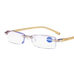 迎伊嘉 石墨烯 负离子量子 老花镜 眼镜 金色 400