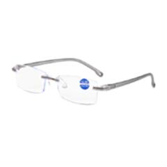 迎伊嘉 石墨烯 负离子量子 老花镜 眼镜 银灰色 400