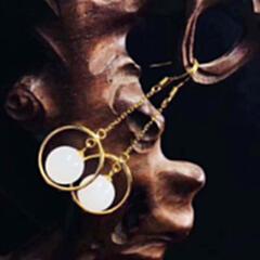 精品主推---2020-2#925银镶和田玉耳环