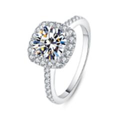 钻石戒指女 方钻-----zsjzn-2