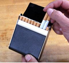 量子能量烟盒 20支装 高档pu烟盒 黑色