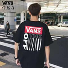 VANS范斯AP RETRO TALL TYPE 印花圆领短袖T恤男 黑色 S