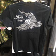 Vans 范斯18夏季男款印花短袖圆领棉T恤 黑色 S