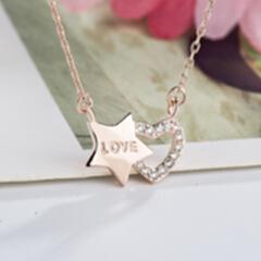 唯爱之星 韩版时尚纯银星空项链 热销款锁骨链 玫瑰金