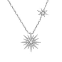 小红书爆款太阳花项链 韩国纯银网红仙女时尚微镶锁骨链 银色