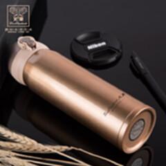 英伦保温杯HXB-BW015香槟金火象白450ML 香槟金