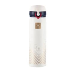 英伦保温杯HXB-BW015香槟金火象白450ML 白色