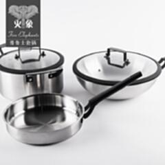 普鲁士三件套锅具HXG-TZ045铁素体不锈钢