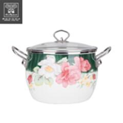 韩式搪瓷珐琅汤锅 月色蔷薇HXG-T001 月色蔷薇