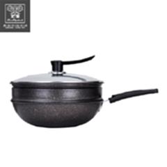 麦饭石养生蒸炒锅-TZ037