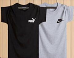 舒适透气100%纯棉T恤 L.XL.XXL.XXXL